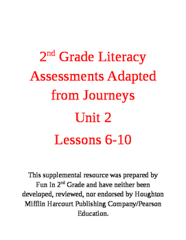 2nd Grade Assessments Adapted from the Journey's Curriculum: Unit 2