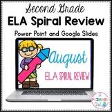 2nd Grade August ELA Spiral Review Morning Work PowerPoint
