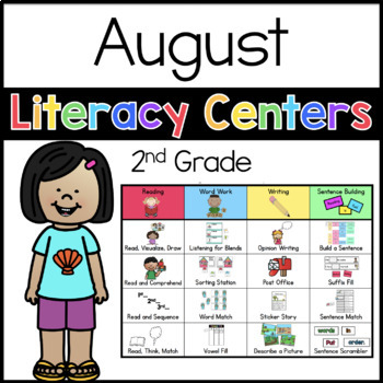 2nd Grade August Literacy Centers