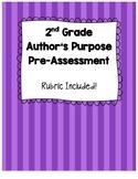 Author's Purpose Pre-Assessment