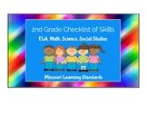 2nd Grade BUNDLE- Missouri Learning Standards Checklist of Skills