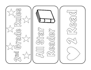 2nd Grade Back-to-School Bookmarks
