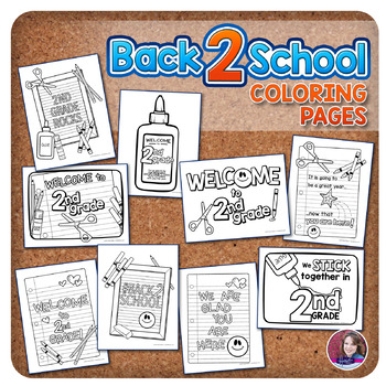 2nd Grade Back to School Coloring Pages