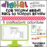 2nd Grade Back to School Digital Math Centers   Distance Learning