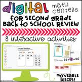 2nd Grade Back to School Digital Math Centers Google Slides™