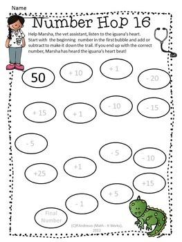 2nd Grade Back to School Number Hop
