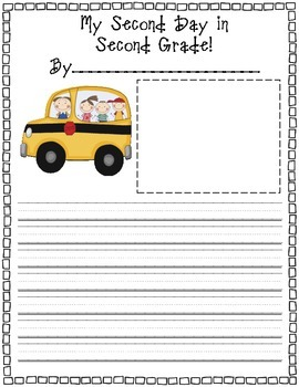 2nd Grade Back to School Pack