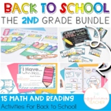 2nd Grade Back to School Reading and Math