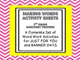2nd Grade Banner Days & Just For You Making Words JUMBO PACK