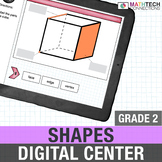 2nd Grade Digital Math Activities About Shapes for Google Slides