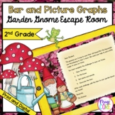 2nd Grade Bar & Picture Graphs - Garden Gnome Escape Room