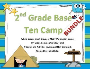 Place Value and Addition and Subtraction: Numbers Base Ten Camp BUNDLE