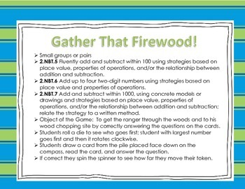 Addition and Subtraction Word Problems Game: Gather That Firewood!