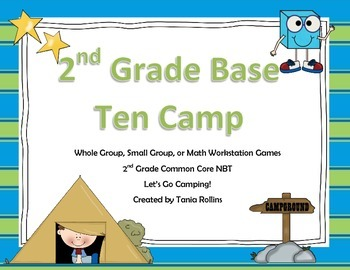 Place Value and Number Sense Word Problems:  Let's Go Camping!