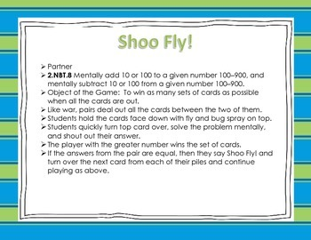 Place Value Mental Math: Shoo Fly!