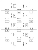 2nd Grade Basic Addition and Subtraction Recall Practice Puzzle