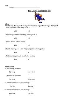 2nd Grade Basketball Unit
