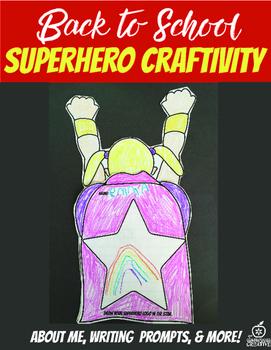 2nd Grade Beginning of the Year Flipable Craftivity {Superhero Theme}