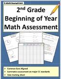 2nd Grade Beginning of the Year Math Assessment