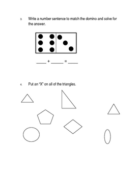 2nd Grade Beginning of the Year Math Pre-Assessment - Pre-Test {Editable}