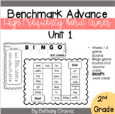 Benchmark Advance 2nd Grade High Frequency Word Games Unit 1