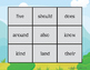 2nd Grade Bingo Game (small game version)