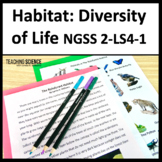 Diversity of Animals and Plants in Different Habitat NGSS 2-LS4-1