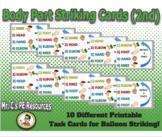 2nd Grade Body Part Striking Pattern Task Cards