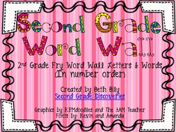 2nd Grade Bright Fry Word Wall