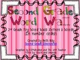 2nd Grade Bright Fry Word Wall