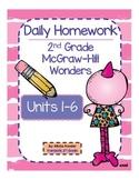 2nd Grade Bundle McGraw-Hill Wonders Units 1-6 Daily Homework