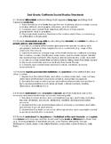2nd Grade CA Social Studies Standards