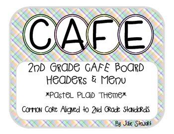 2nd Grade CAFE Board- Plaid Pastel