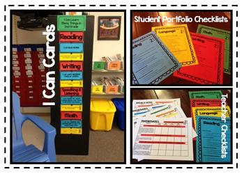 2nd Grade CC checklists and I CAN cards