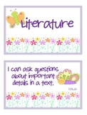 "2nd Grade CCSS ELA & Math ""I Can"" Statements (Butterfly Themed)"
