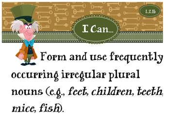 2nd Grade CCSS I Can Statement Cards - ELA - Language