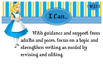 2nd Grade CCSS I Can Statement Cards - ELA - Writing Strand