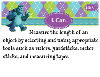 2nd Grade CCSS I Can Statement Cards - Math - Measurement and Data