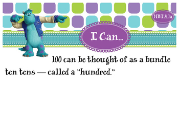2nd Grade CCSS I Can Statement Cards - Math - Numbers and Operations