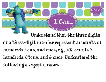 2nd Grade CCSS I Can Statement Cards - Math - Numbers and