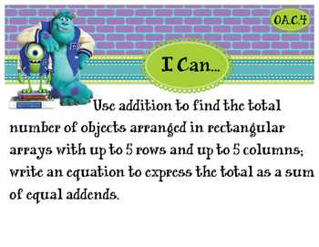 2nd Grade CCSS I Can Statement Cards - Math - Operations & Algebraic Thinking