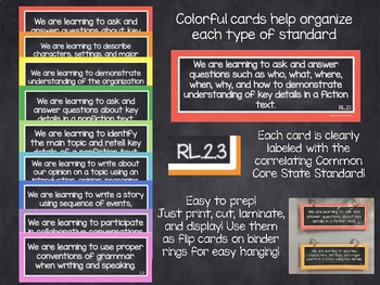 2nd Grade CCSS I Can Statement Focus Wall-Rainbow