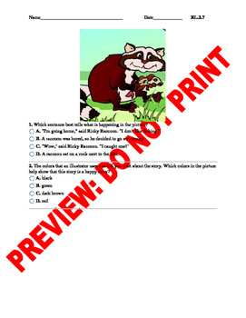 2nd Grade CCSS Images and Illustrations Assessment RL2.7