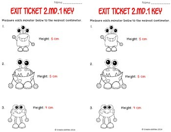 Measuring Lengths Math Tasks and Exit Tickets