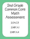 2nd Grade CCSS Math Assessment (2.OA.C.3, 2.NBT.A.1, 2.NBT.A.4)