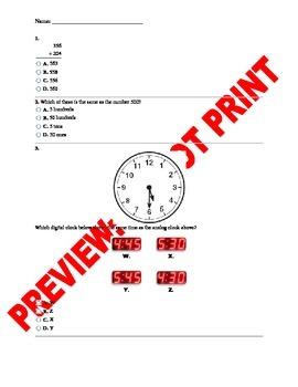 2nd Grade CCSS Math Benchmark Assessment