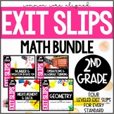 2nd Grade Math Exit Slips Common Core Assessment BUNDLE