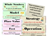 2nd Grade CCSS Math Vocabulary Word Wall Cards Bulletin Board/Math Centers