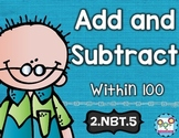 Addition and Subtraction To 100 Math Tasks and Exit Tickets