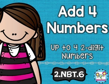 Adding 4 Numbers Math Tasks and Exit Tickets
